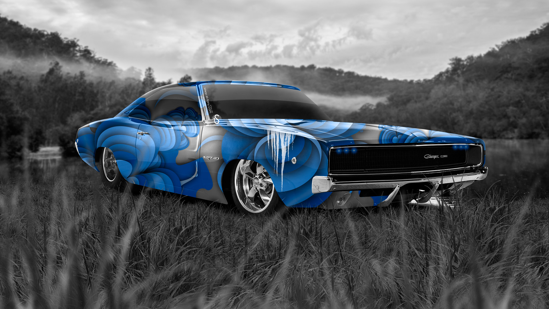 Awesome ... Dodge Charger SRT Retro Muscle Nature Car 2014  ... Idea