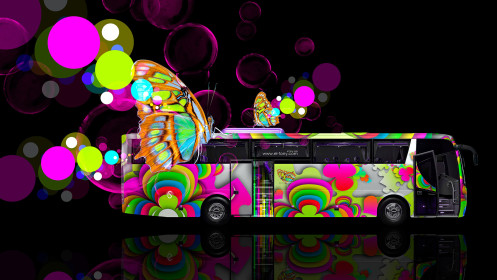 Fantasy-Butterfly-Bus-2014-Side-Multicolors-HD-Wallpapers-design-by-Tony-Kokhan-[www.el-tony.com]