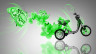 Fantasy-Mini-Moto-Butterfly-Flowers-Bike-2014-Green-Neon-HD-Wallpapers-design-by-Tony-Kokhan-[www.el-tony.com]