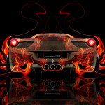 Ferrari 458 Italia Back Fire Abstract Car 2014