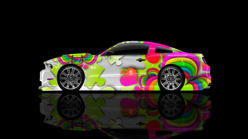 Ford-Mustang-GT-Muscle-Super-Aerography-Car-2014-Art-Multicolors-HD-Wallpapers-design-by-Tony-Kokhan-[www.el-tony.com]