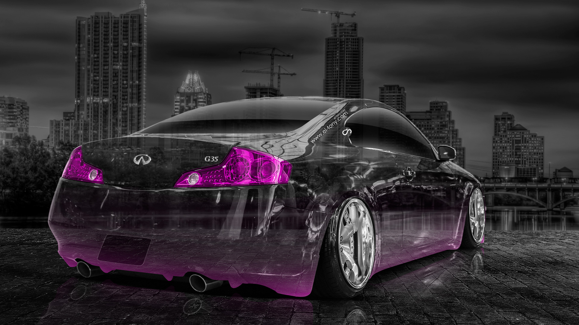 Perfect Infiniti G35 Crystal City Car 2014 Pink Neon