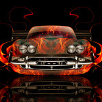 Lamborghini 400 GT Front Fire Abstract Car 2014