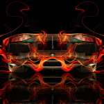 Lamborghini Aventador Back Fire Abstract Car 2014