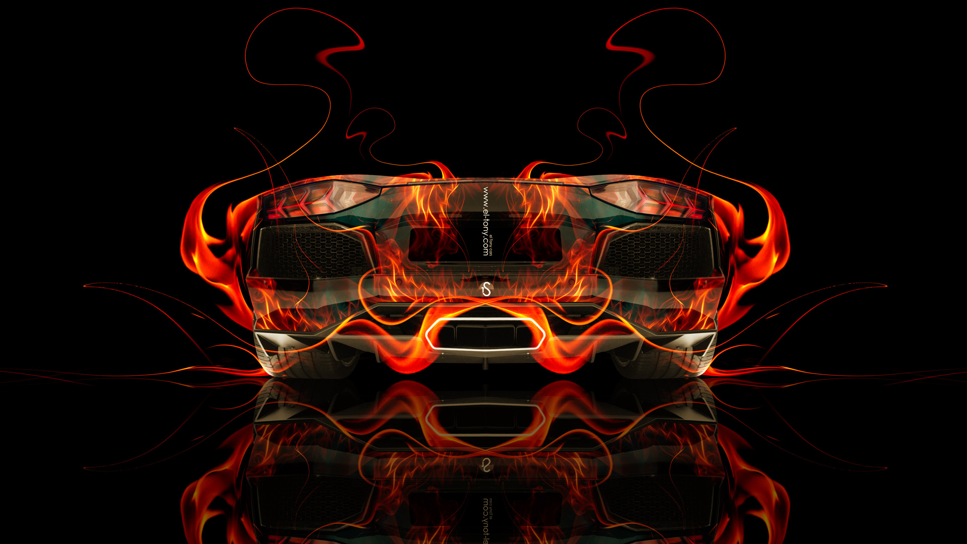 Superieur ... Lamborghini Aventador Back Fire Abstract Car 2014
