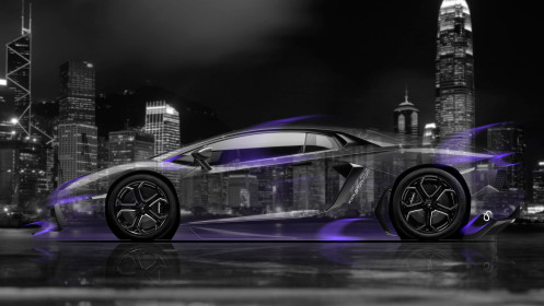 Lamborghini-Aventador-Side-Crystal-City-Car-2014-Art-Violet-Neon-HD-Wallpapers-design-by-Tony-Kokhan-[www.el-tony.com]
