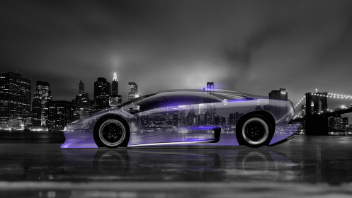 Lamborghini-Diablo-Side-Crystal-City-Car-2014-Violet-Neon-HD-Wallpapers-design-by-Tony-Kokhan-[www.el-tony.com]