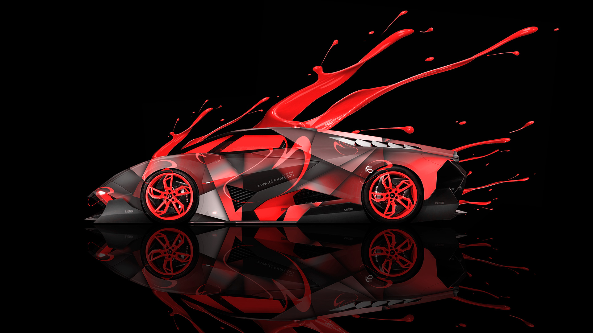 Lamborghini Egoista Side Live Colors Car 2014 El Tony