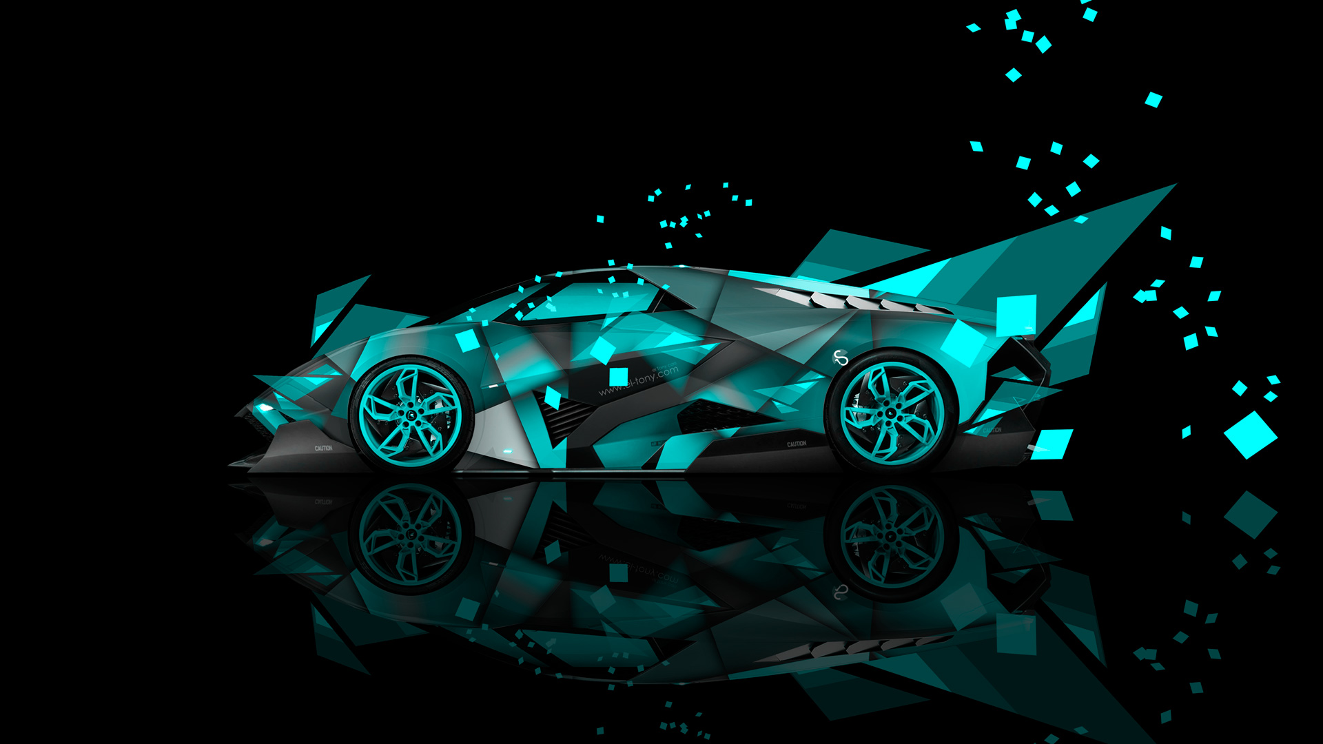 Lamborghini Egoista Side Super Abstract Car 2014 Photoshop