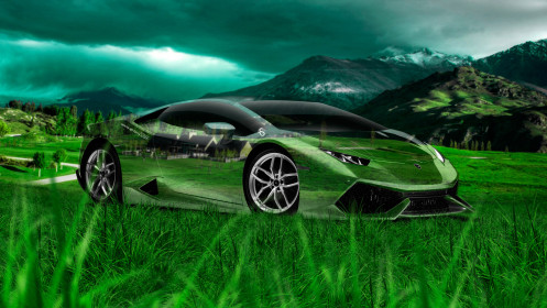 Lamborghini-Huracan-Crystal-Nature-Car-2014-Art-Photoshop-HD-Wallpapers-design-by-Tony-Kokhan-[www.el-tony.com]