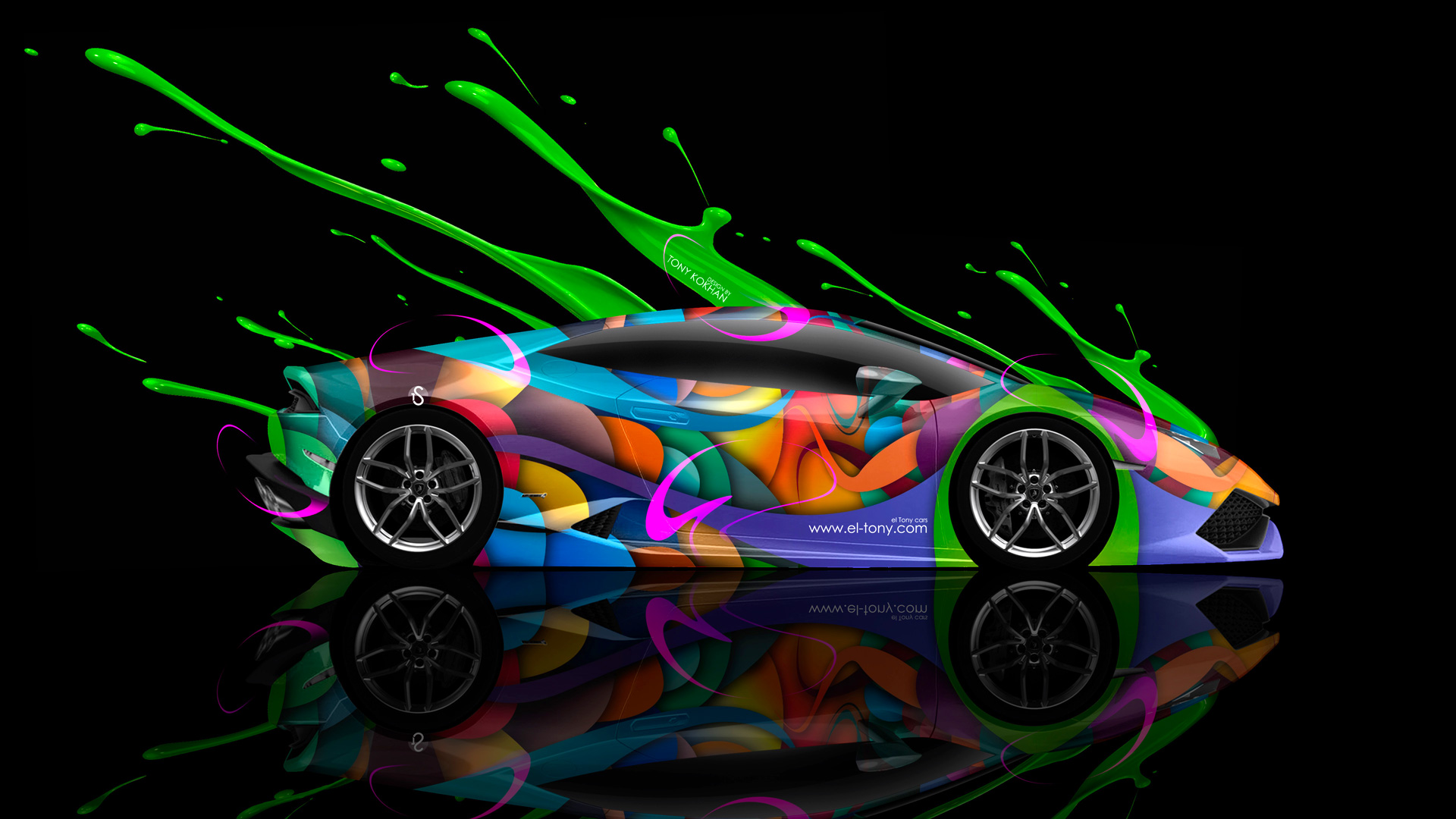 Superior Lamborghini Huracan Side Live Colors Car 2014 Multicolors