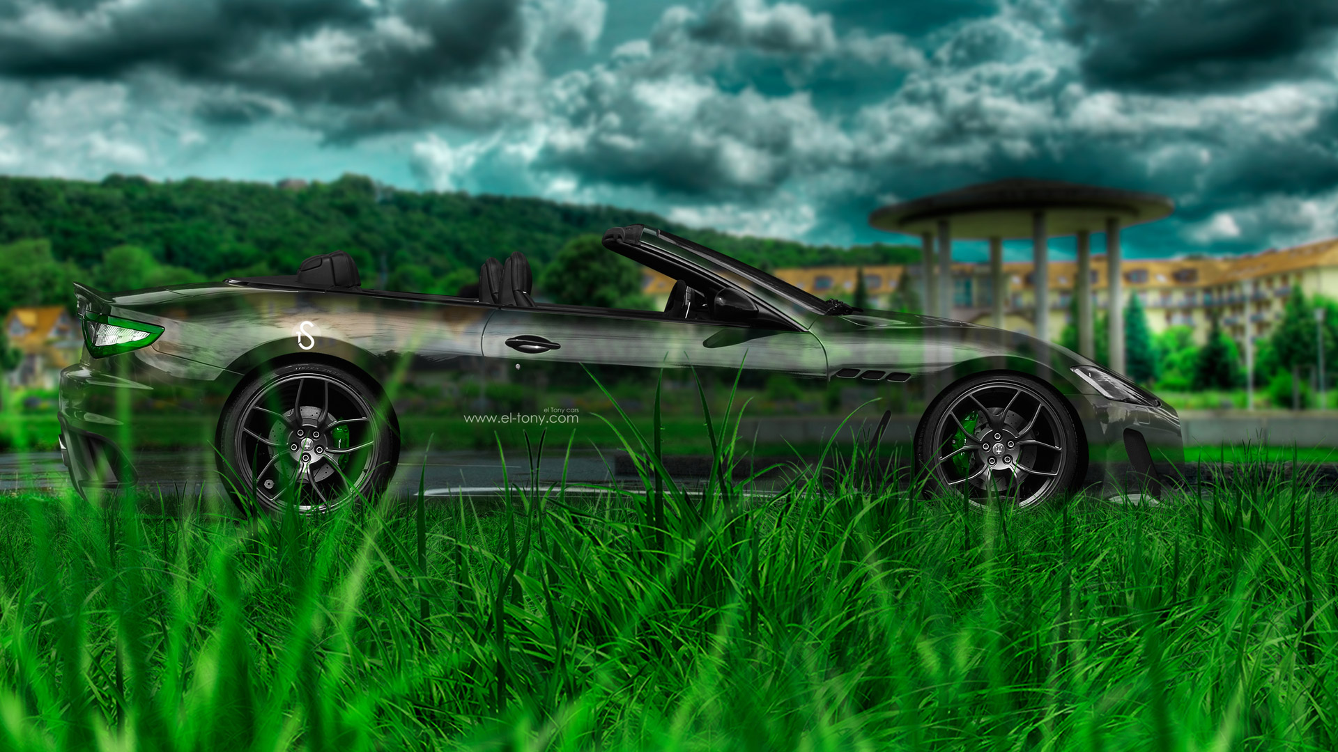 Genial Maserati GranCabrio Side Crystal Nature Car 2014 HD