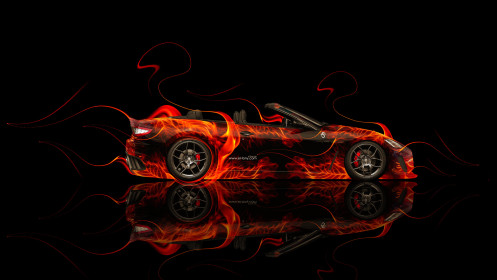 Maserati-GranCabrio-Side-Fire-Car-2014-HD-Wallpapers-design-by-Tony-Kokhan-[www.el-tony.com]