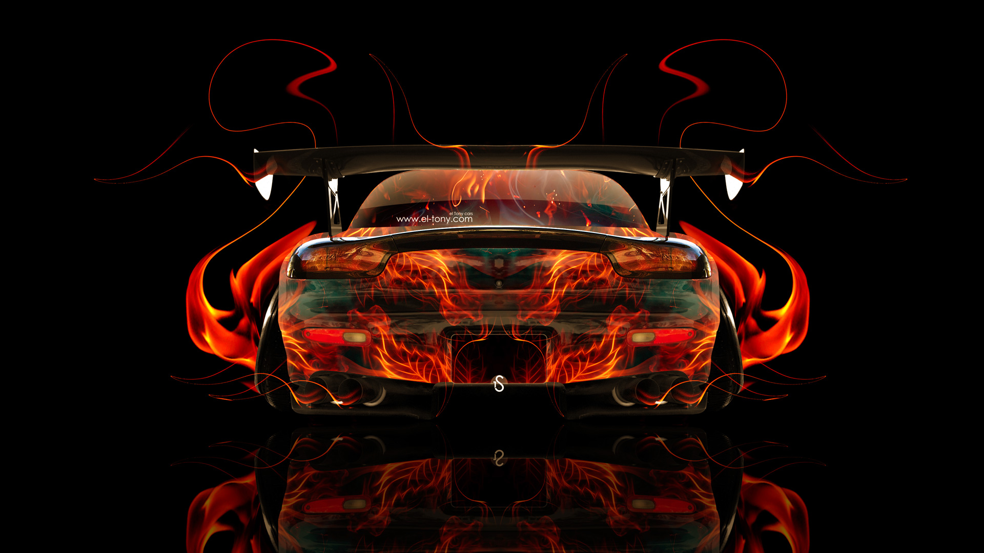 Porsche 911 Front Azure Fire Abstract Car 2014 HD Wallpapers Design By Tony Kokhan Www.el Tony.com_  (1920×1080) | Illustrator | Pinterest | Illustrators