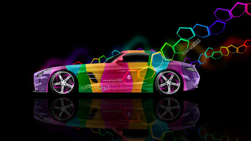 Mercedes-SLS-AMG-Side-Multicolors-Aerography-Car-2014-HD-Wallpapers-design-by-Tony-Kokhan-[www.el-tony.com]