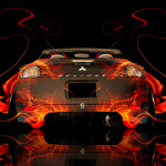 Mitsubishi Eclipse JDM Back Fire Abstract Car 2014