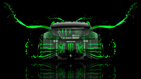 Monster-Energy-Infiniti-G37-Back-Green-Live-Colors-Car-2014-HD-Wallpapers-design-by-Tony-Kokhan-[www.el-tony.com]