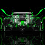 Monster Energy Lexus LFA Back Plastic Car 2014