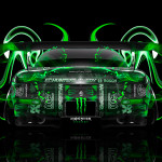 Monster Energy Mazda RX7 JDM Back Plastic Car 2014