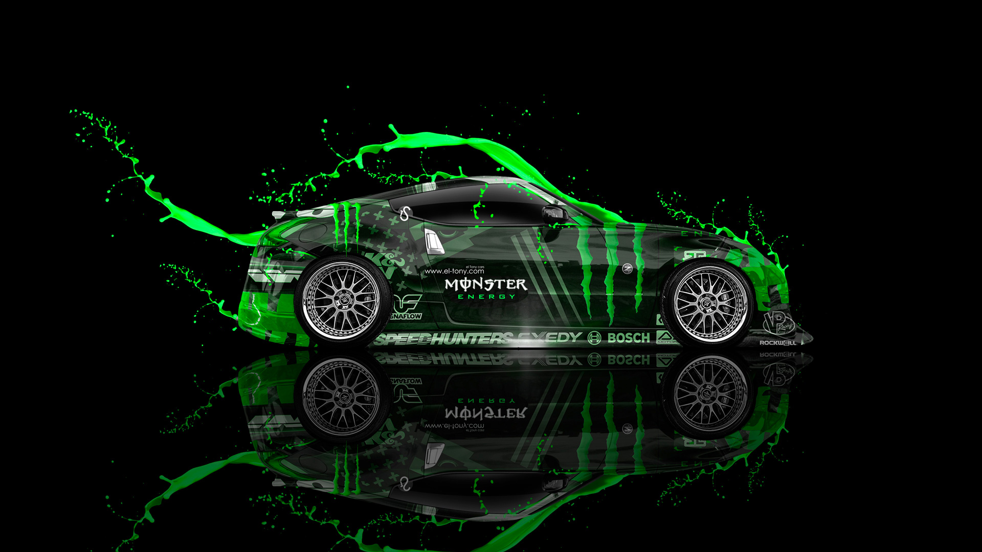 Monster Energy Nissan Jdm Side Live Colors Car El Tony