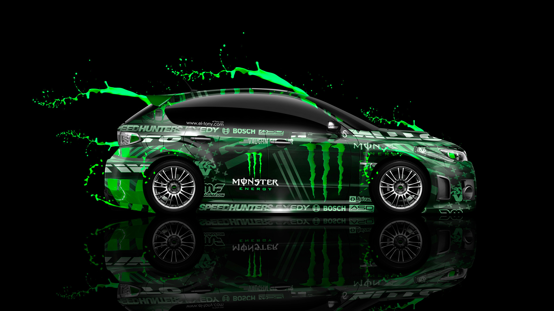 Monster Energy Subaru Impreza WRX STI JDM Side