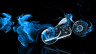 Moto-Harley-Davidson-Side-Super-Blue-Fire-Bike-2014-HD-Wallpapers-design-by-Tony-Kokhan-[www.el-tony.com]