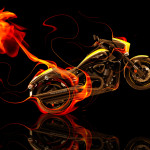 Suzuki M109 Side Fire Abstract Bike 2014