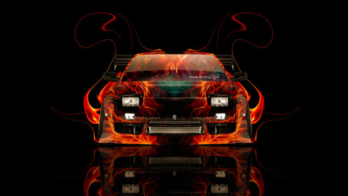 Nissan-180SX-JDM-Front-Fire-Abstract-Car-2014-HD-Wallpapers-design-by-Tony-Kokhan-[www.el-tony.com]