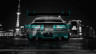 Nissan-300ZX-JDM-Back-Crystal-City-Car-2014-Art-Azure-Neon-HD-Wallpapers-design-by-Tony-Kokhan-[www.el-tony.com]