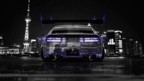 Nissan-300ZX-JDM-Back-Crystal-City-Car-2014-Art-Violet-Neon-HD-Wallpapers-design-by-Tony-Kokhan-[www.el-tony.com]