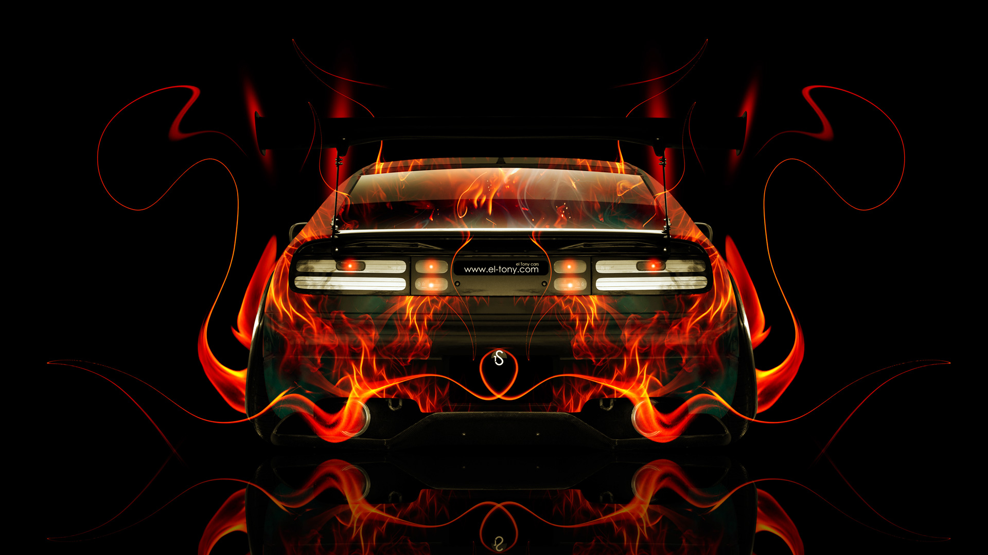 Nissan 300zx Jdm Back Fire Abstract Car 2014 El Tony