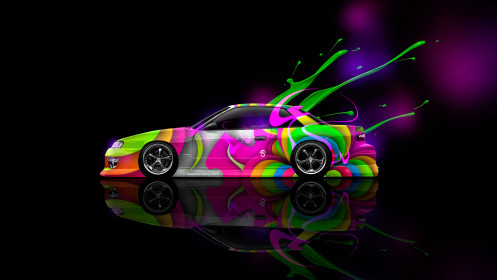 Nissan-Silvia-S13-JDM-Side-Live-Colors-Car-2014-HD-Wallpapers-design-by-Tony-Kokhan-[www.el-tony.com]