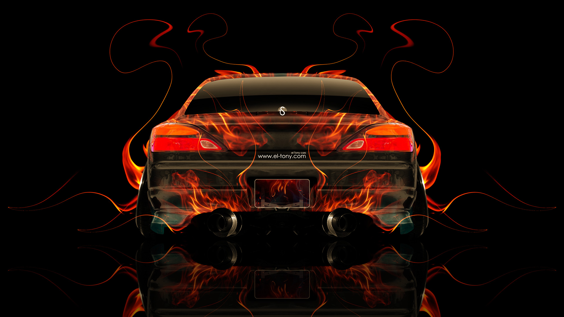 Superior Nissan Silvia S15 JDM Back Fire Abstract Car