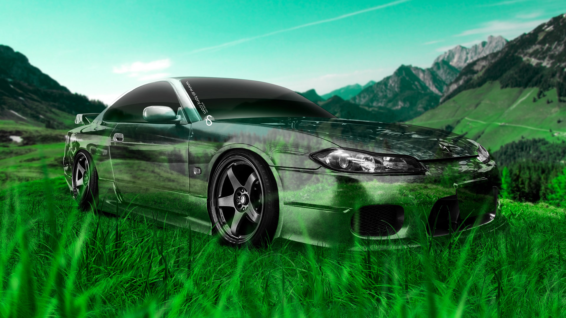 «Nissan Silvia S15 JDM Crystal Nature Car 2014 Photoshop .