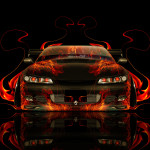 Nissan Silvia S15 JDM Front Fire Abstract Car 2014