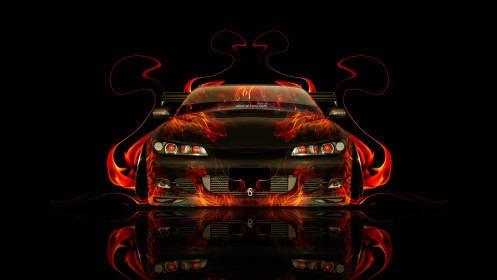 Nissan-Silvia-S15-JDM-Front-Fire-Abstract-Car-2014-HD-Wallpapers-design-by-Tony-Kokhan-[www.el-tony.com]