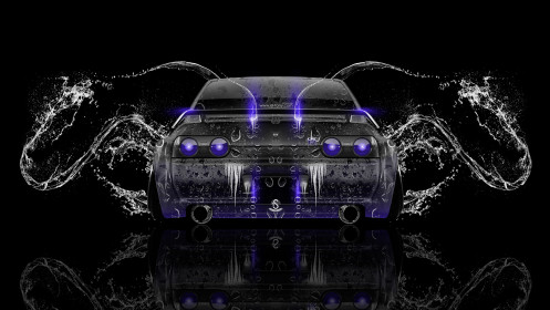 Nissan-Skyline-GTR-R32-JDM-Back-Water-Car-2014-Violet-Neon-HD-Wallpapers-design-by-Tony-Kokhan-[www.el-tony.com]