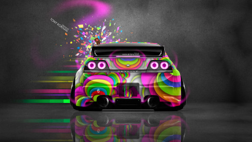 Nissan-Skyline-GTR-R33-Back-JDM-Domo-Kun-Toy-Car-2014-Multicolors-HD-Wallpapers-design-by-Tony-Kokhan-[www.el-tony.com]
