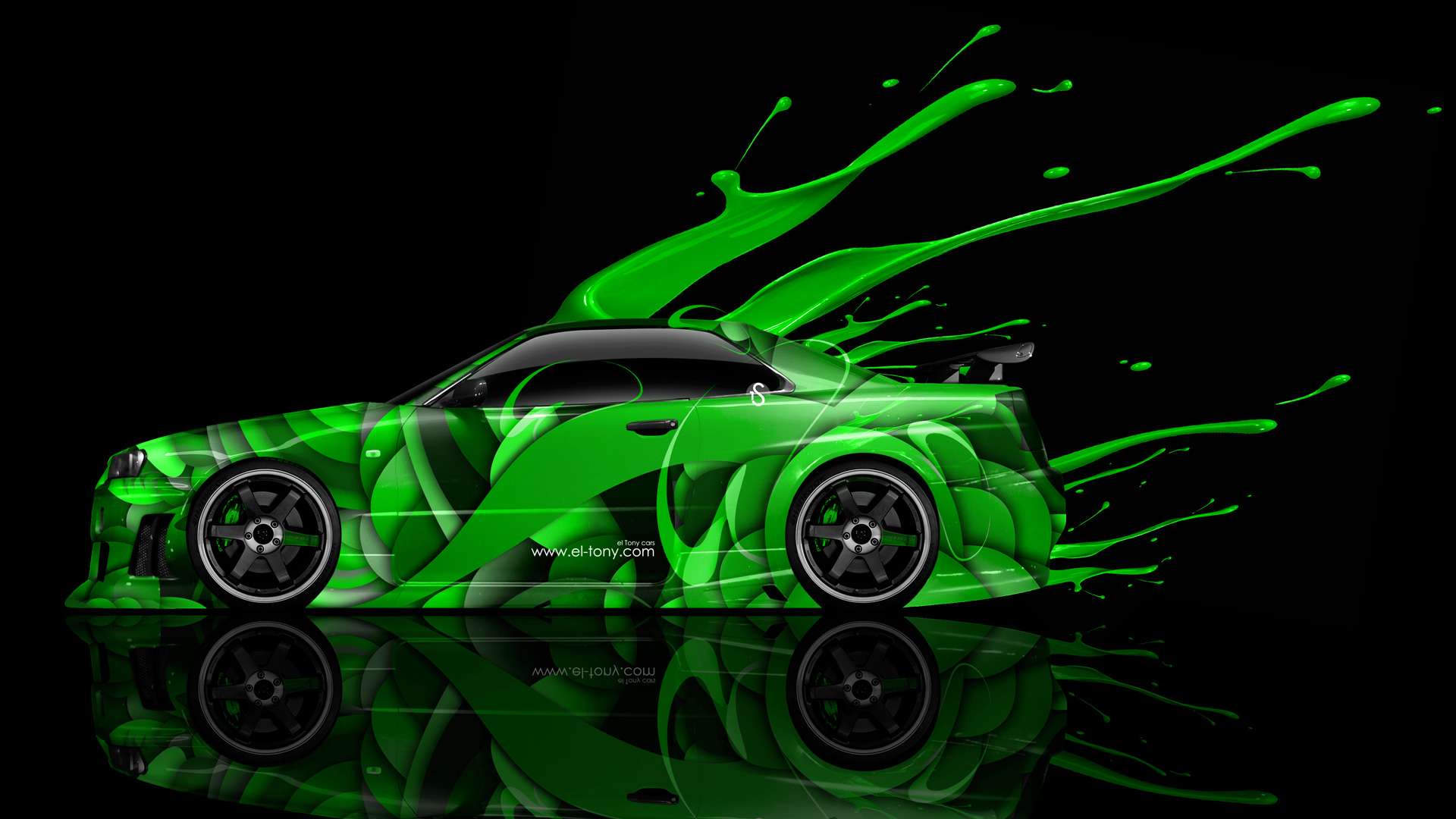 Wallpapers Nissan Skyline Gtr R34 Side Live Colors Car 2014