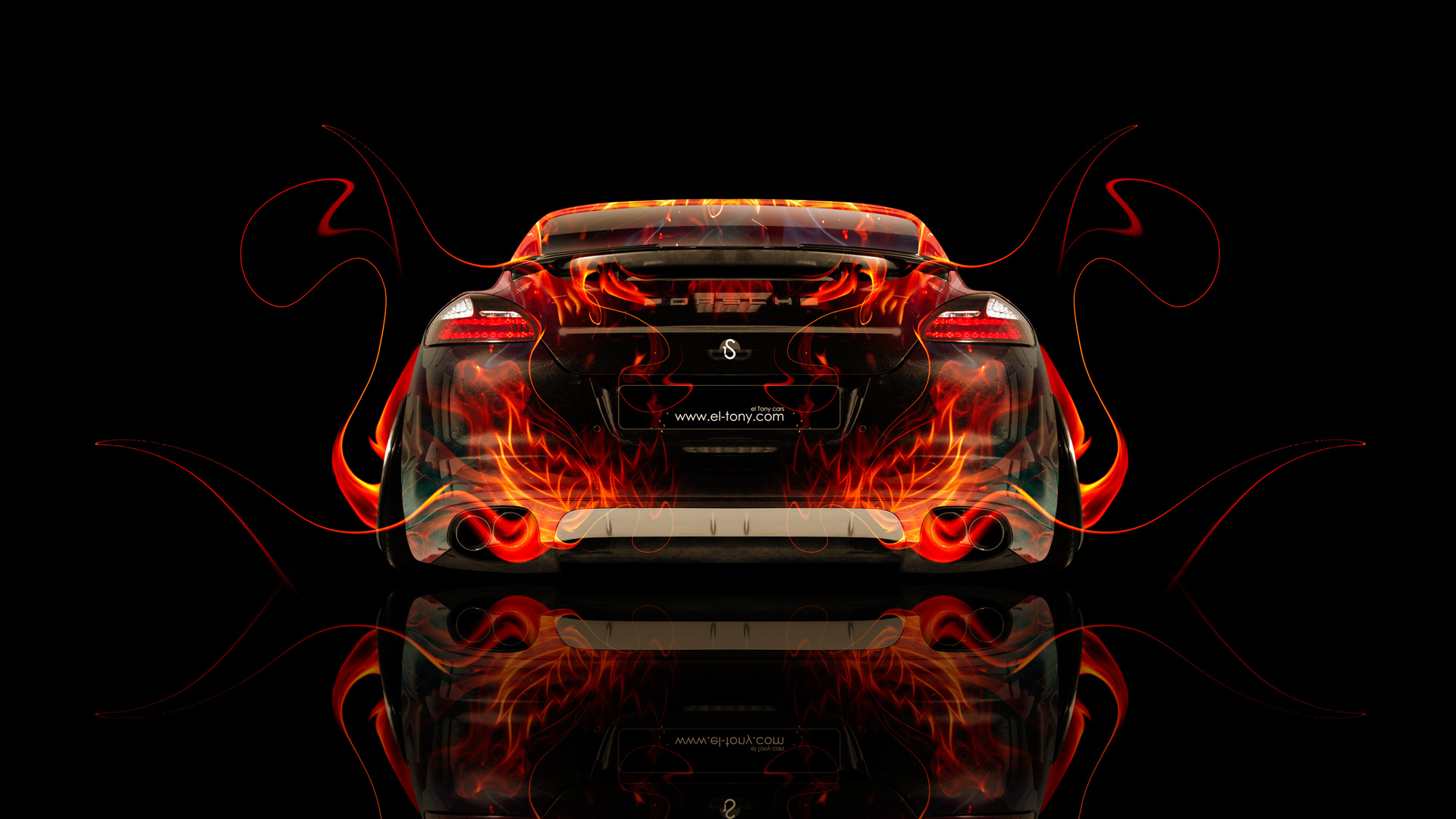 Merveilleux ... Porsche Panamera Back Fire Abstract Car 2014