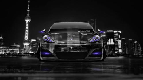 Porsche-Panamera-Front-Crystal-City-Car-2014-Violet-Neon-HD-Wallpapers-design-by-Tony-Kokhan-[www.el-tony.com]