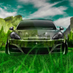 Porsche Panamera Front Crystal Nature Car 2014