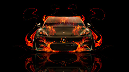 Porsche-Panamera-Front-Fire-Abstract-Car-2014-HD-Wallpapers-design-by-Tony-Kokhan-[www.el-tony.com]
