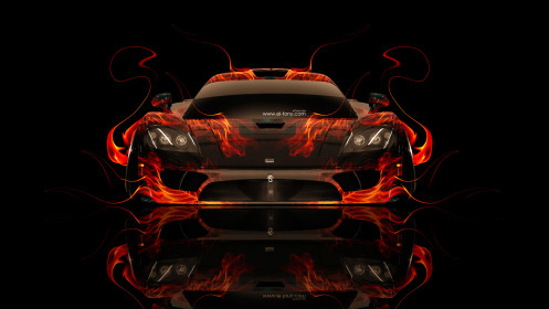 Saleen-S7-Front-Fire-Abstract-Car-2014-HD-Wallpapers-design-by-Tony-Kokhan-[www.el-tony.com]