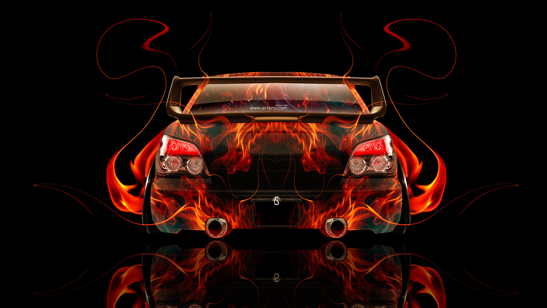 Subaru Impreza WRX STI JDM Back Fire Abstract