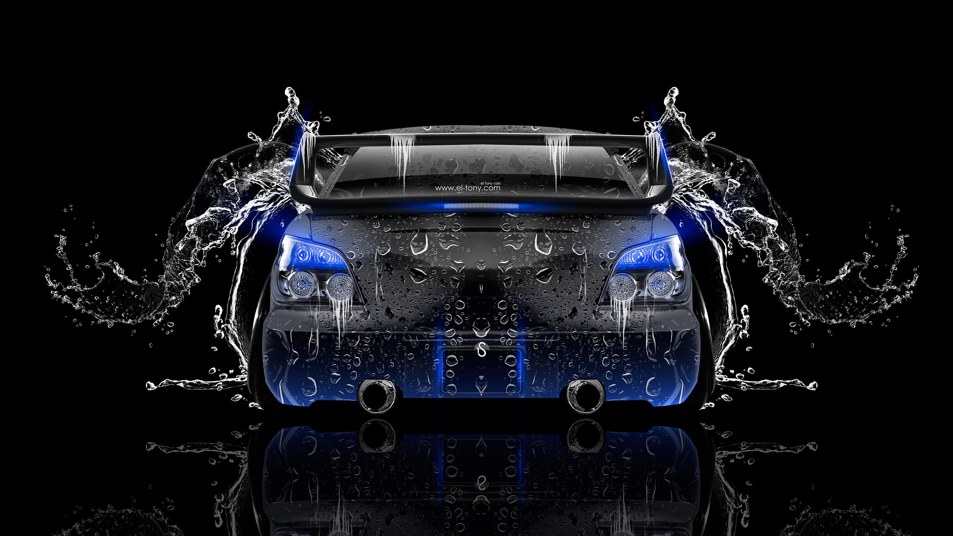 Subaru Impreza WRX STI JDM Back Water Car