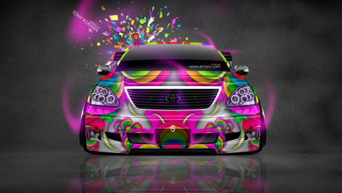 Toyota-Celsior-JDM-Tuning-Domo-Kun-Toy-Car-2014-Photoshop-Multicolors-HD-Wallpapers-design-by-Tony-Kokhan-[www.el-tony.com]