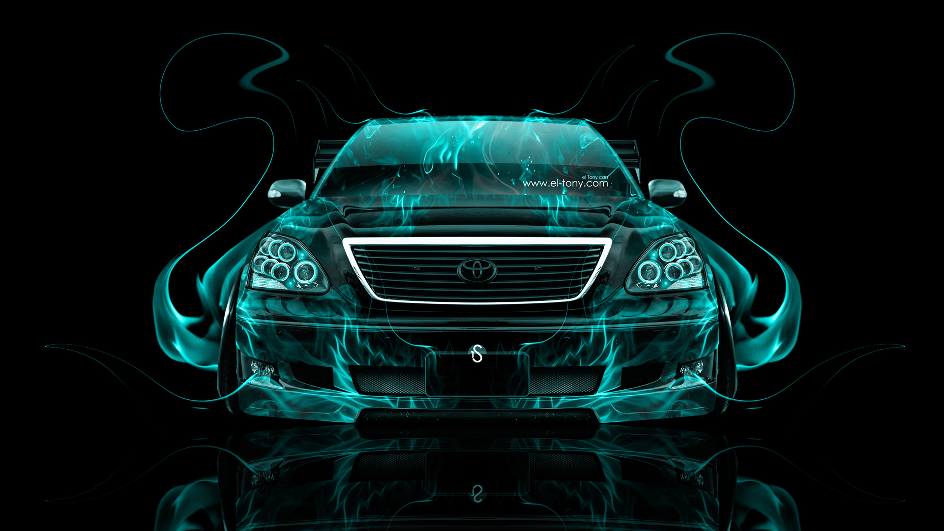 ... Toyota Celsior JDM Tuning Front Azure Fire Car