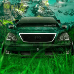 Toyota Celsior JDM Tuning Front Crystal Nature Car 2014