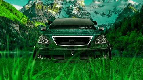 Toyota-Celsior-JDM-Tuning-Front-Crystal-Nature-Car-2014-Photoshop-HD-Wallpapers-design-by-Tony-Kokhan-[www.el-tony.com]